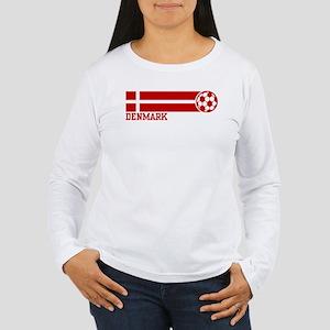 Denmark Soccer Women's Long Sleeve T-Shirt