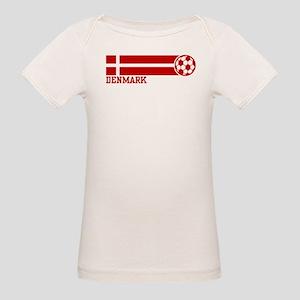 Denmark Soccer Organic Baby T-Shirt