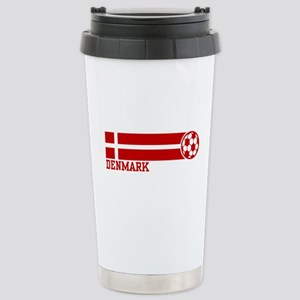 Denmark Soccer Stainless Steel Travel Mug