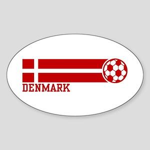 Denmark Soccer Sticker (Oval)