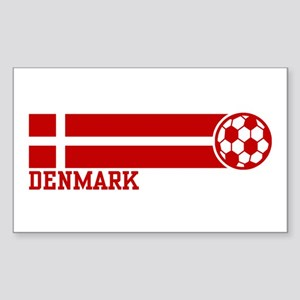 Denmark Soccer Sticker (Rectangle)