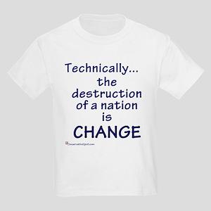 Destruction is Change Kids Light T-Shirt