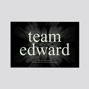 Team Edward Sparkle Rectangle Magnet