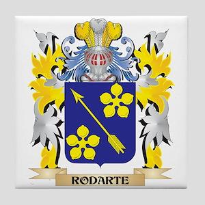Rodarte Family Crest - Coat of Arms Tile Coaster