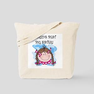 (Brunette) Best Big Sister Tote Bag