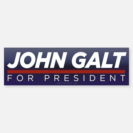 John Galt for President Sticker (Bumper 10 pk)