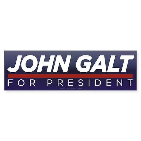 John Galt for President Sticker (Bumper)