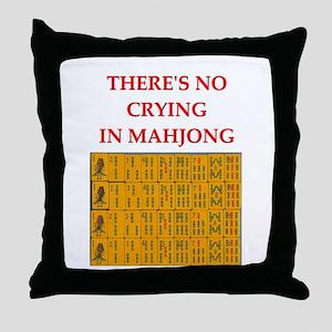 i love mahjong Throw Pillow