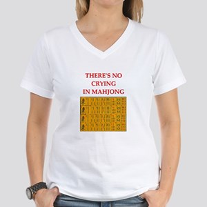 i love mahjong Women's V-Neck T-Shirt