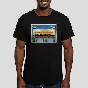 THANK YOU ARIZONA Men's Fitted T-Shirt (dark)