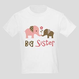 Big Sister - Mod Elephant Kids Light T-Shirt