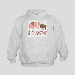 Big Sister - Mod Elephant Kids Hoodie