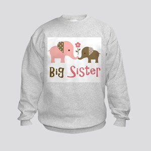 Big Sister - Mod Elephant Kids Sweatshirt