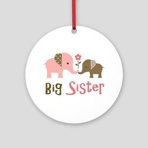 Big Sister - Mod Elephant Ornament (Round)