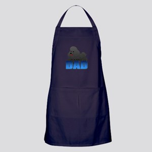 Black Poodle Dad Apron (dark)
