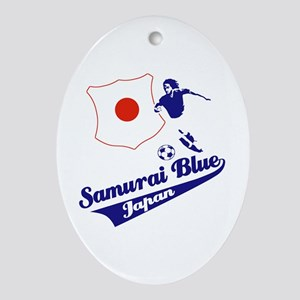 Japanese soccer Ornament (Oval)