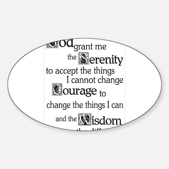 SERENITY PRAYER Sticker (Oval 10 pk)