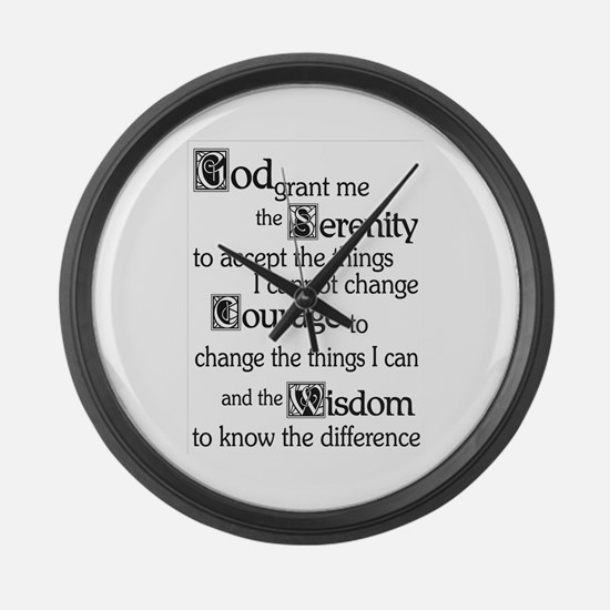 SERENITY PRAYER Large Wall Clock