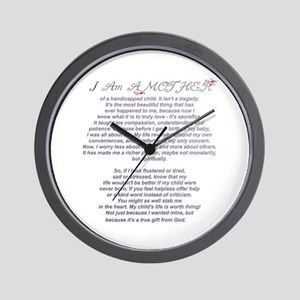 Mother of a Handicapped Child Wall Clock