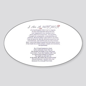 Mother of a Handicapped Child Sticker (Oval)
