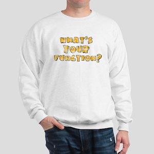 Whats Your Function Orange on Sweatshirt