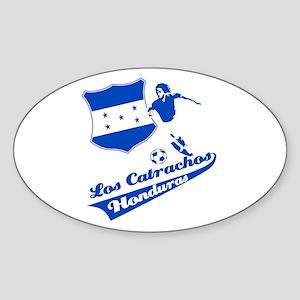 Honduran soccer Sticker (Oval)
