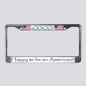 wOOhOO! Happy American License Plate Frame