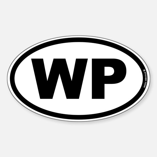 WP Sticker (Oval)