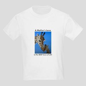 A Mother's Love is the Best L Kids Light T-Shirt