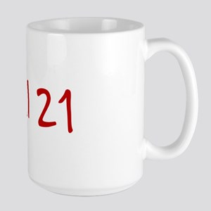 """April 21"" printed on a Large Mug"