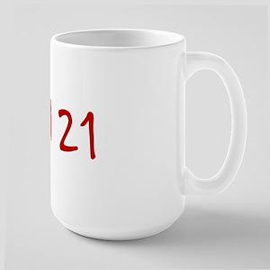 """""""April 21"""" printed on a Large Mug"""