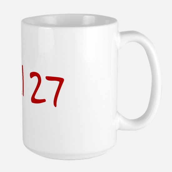 """April 27"" printed on a Large Mug"