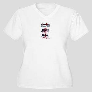 Triathlon Mommy Women's Plus Size V-Neck T-Shirt