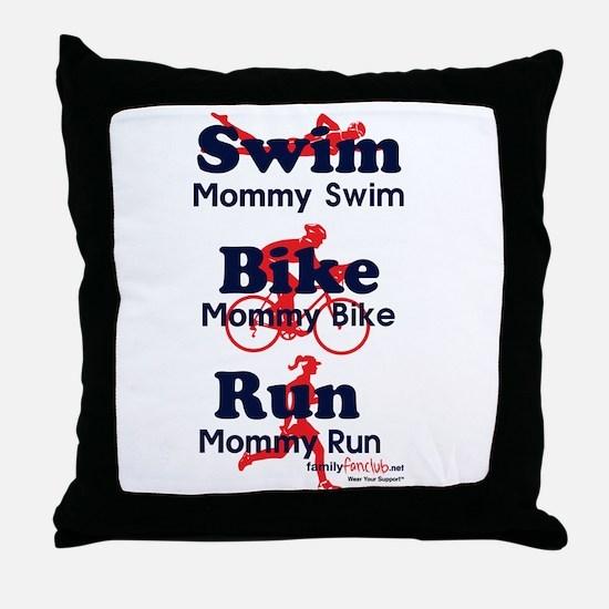 Triathlon Mommy Throw Pillow