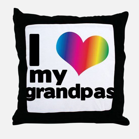 i love my grandpas Throw Pillow