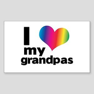 i love my grandpas Sticker (Rectangle)