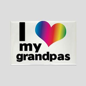 i love my grandpas Rectangle Magnet