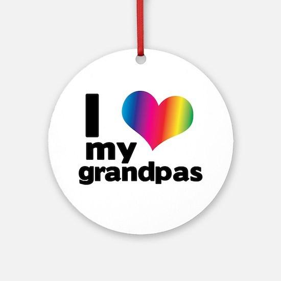 i love my grandpas Ornament (Round)