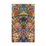 Africa.1 Land of Beauty Rectangle Sticker