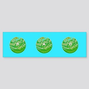Dad Golf Balls Father's Day Bumper Sticker