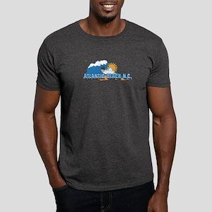 Atlantic Beach NC - Waves Design Dark T-Shirt