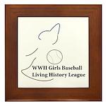 WWII Girls Baseball League Framed Tile