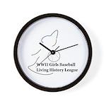 WWII Girls Baseball League Wall Clock