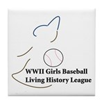 WWII Girls Baseball League Tile Coaster