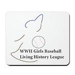 WWII Girls Baseball League Mousepad
