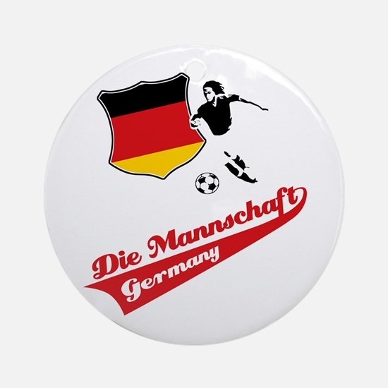 German soccer Ornament (Round)