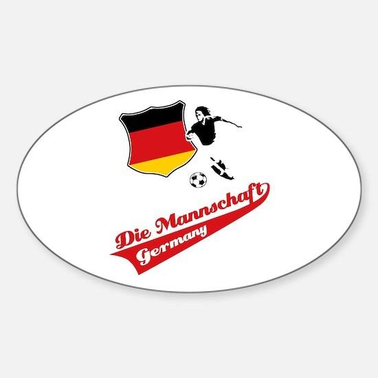 German soccer Sticker (Oval)