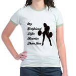 My Wife Lifts more than you Jr. Ringer T-Shirt