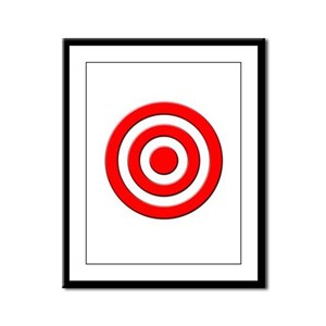 Bullseye Framed Panel Print