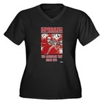 """Imperialism Women's Plus Size V-Neck Dark T-Shirt"